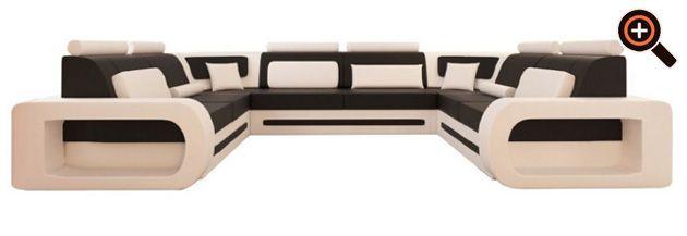 Designer Couch u2013 modernes Sofa fürs Wohnzimmer aus Leder in weiß - moderne bilder fürs wohnzimmer
