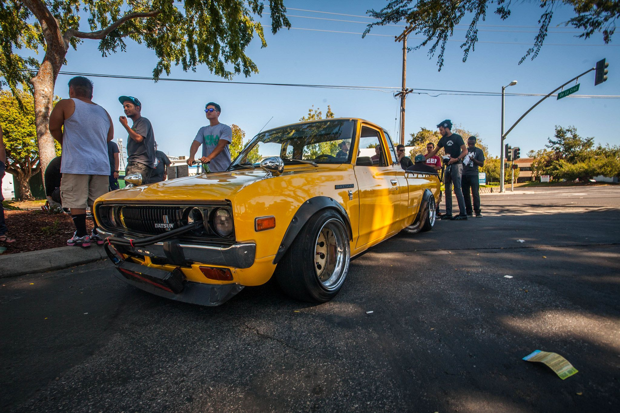 Nissan datsun 510 truck - I Just Picked Up A Set Of 15x10 Inch Steelies That Ll Look Almost Identical