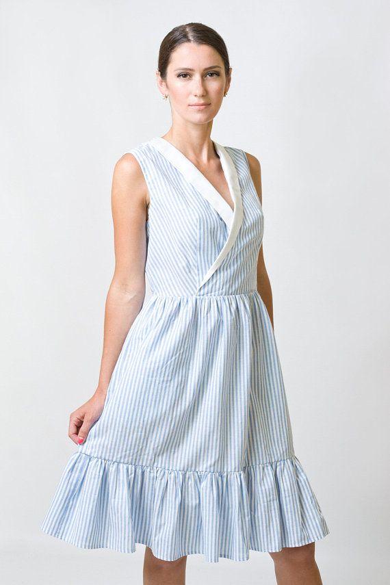 ef89dcdace4 Blue Wrap Dress by TAVROVSKA