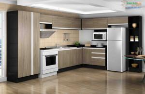 Tủ bếp Laminate vân gỗ sang trọng 18