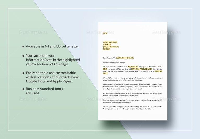Return Authorization Letter Template Document Design Templates - google resume format
