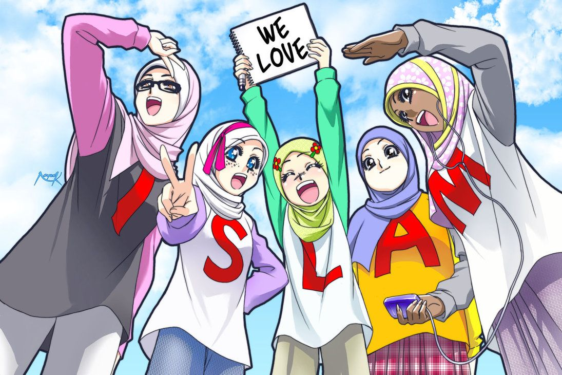 We Love Islam 1 By Nayzak On Deviantart Anime Muslim Anime Anime Kiss