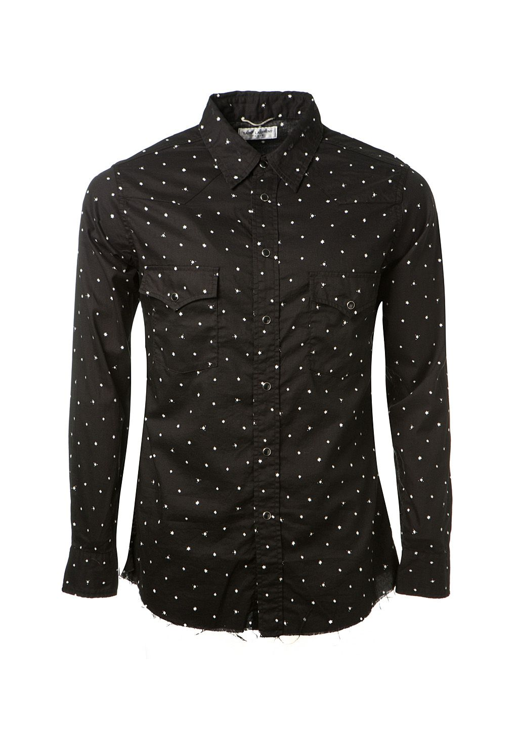 73929ba779dfa2 SAINT LAURENT Saint Laurent White Stars Printed Black Cotton Western Shirt.  #saintlaurent #cloth #