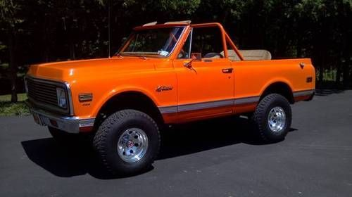 Blaze Orange 71 Classic Chevy Trucks Chevrolet Chevrolet Blazer