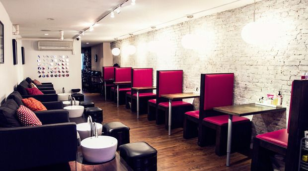 Blush Nail Lounge   Salon Interiors in 2019   Chic nails