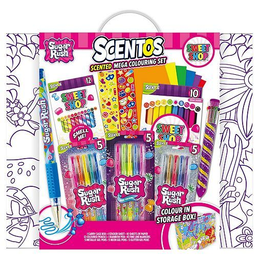 Tesco Direct Scented Candy Colouring Set Crayon Crafts Birthday Presents For Friends Girl Birthday Party Gifts