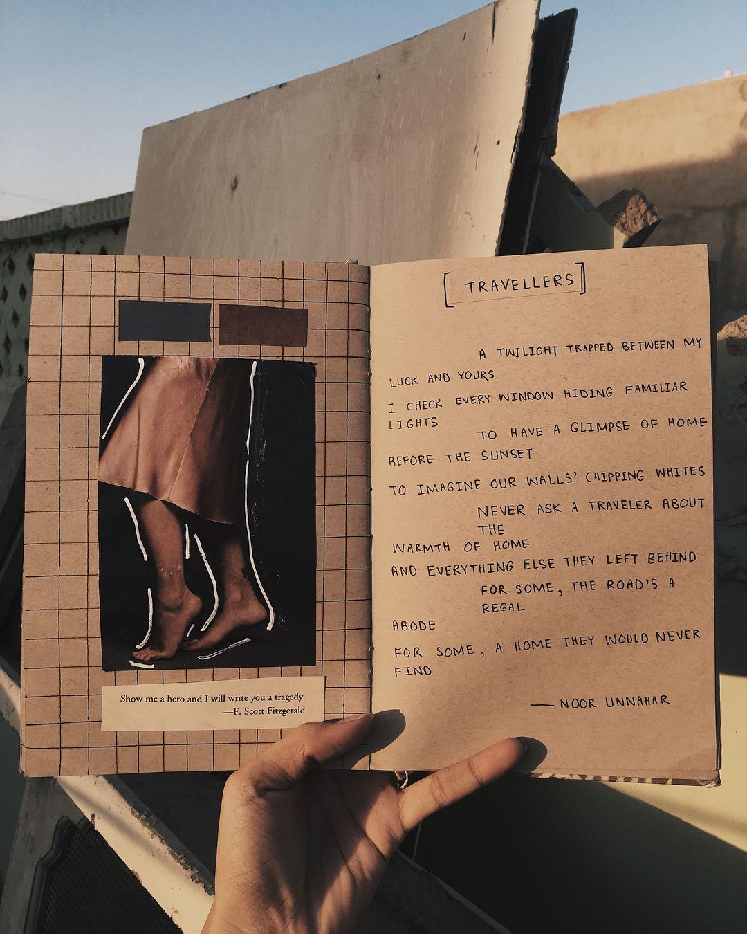 Travellers Art Journal Poetry By Noor Unnahar