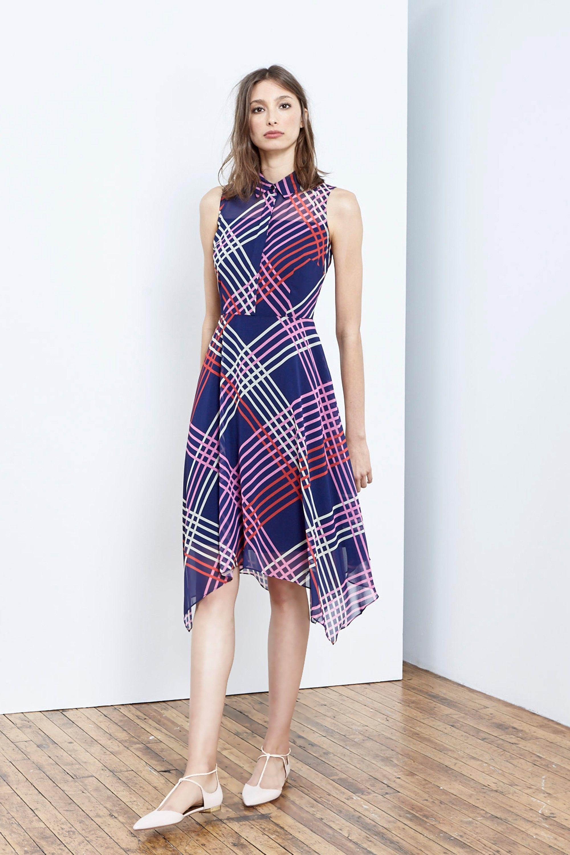 Donna Morgan Plaid Shirt Dress for Spring | Spring/Summer 17 ...