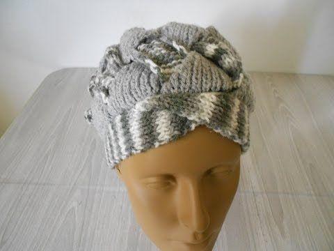 aprende hacer un gorro tejido con Gancho Crochet de argollas gruesas ...