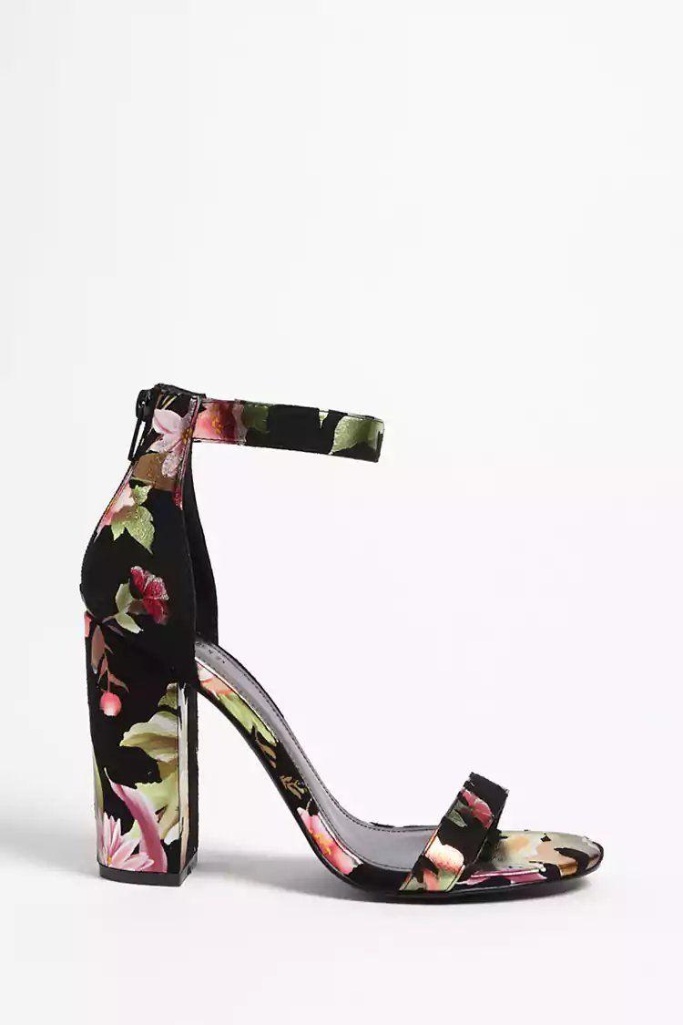 ce37cfc9d823 Product Name Floral Faux Suede Heels