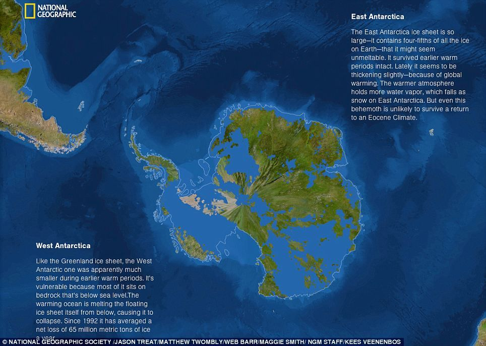 What would the world look like if all the ice MELTED Antarctica