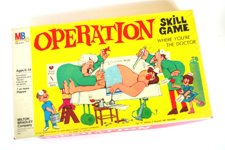 Milton Bradley Operation Game Original 1965 Version Board