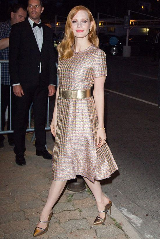 Jessica Chastain in Chanel S17 HC (Look 7) at Vanity Fair and Chanel ...