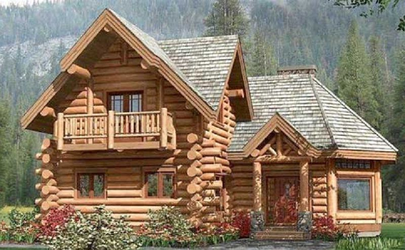 planos de cabaa con rollizos de madera de m