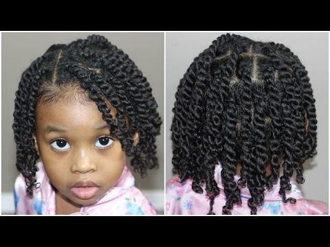 Two Strand Twists For Kids Natural Hair Youtube Natural