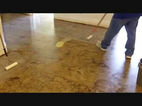 Do It Yourself Concrete Staining: How To Stain Concrete Floors  (video)forget Putting Down Wood Flooring We Are Doing This