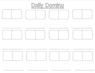 blank domino addition am using this weather tally sheet instead with the graph this month. Black Bedroom Furniture Sets. Home Design Ideas