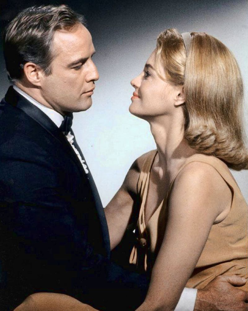 """Marlon Brando and Angie Dickinson in """"The Chase"""", 1966"""