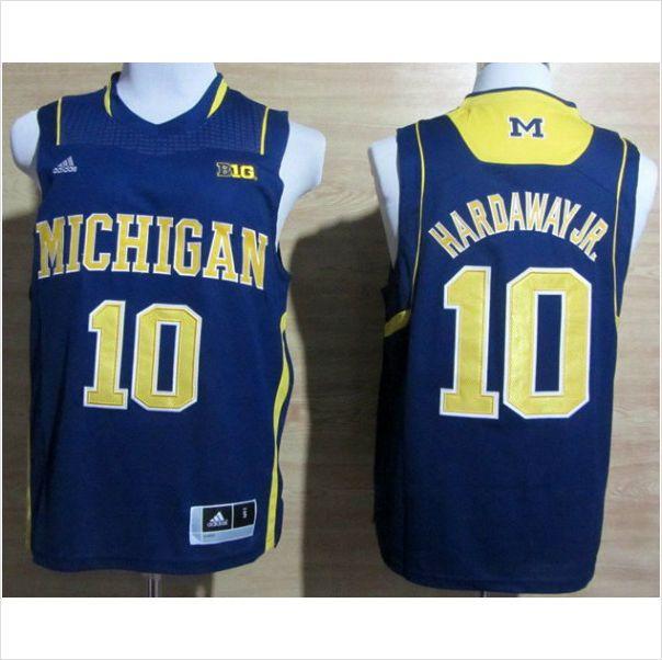 buy popular 70686 64102 Men's Michigan Wolverines Tim Hardaway, Jr.10 Blue Authentic ...