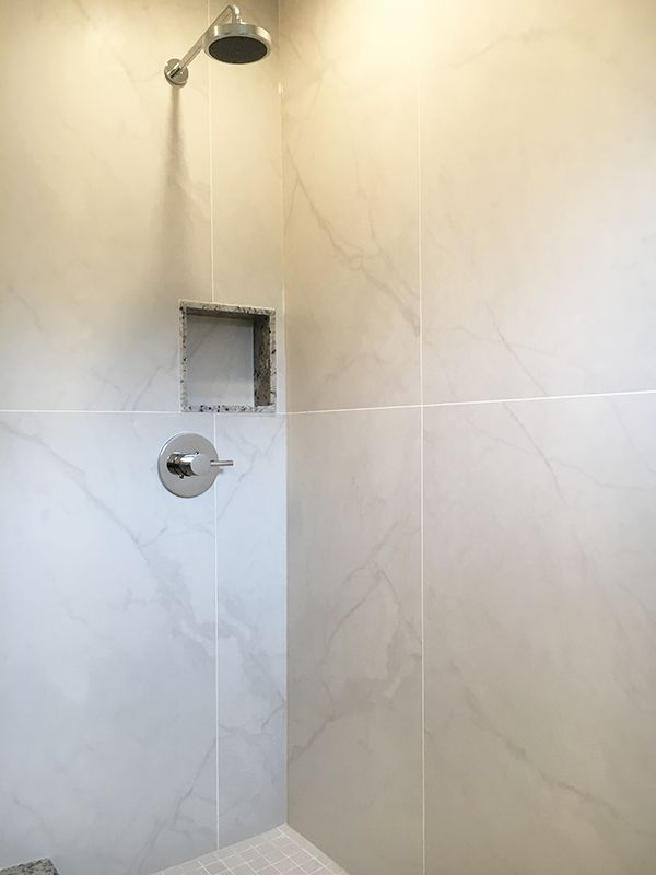 24 48 Porcelain Tile Schluter Shower Bathrooms In 2019