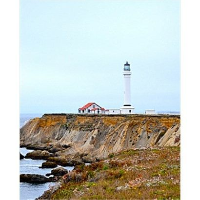 8x10 Point Arena Lighthouse Photo Print by BuffaloGoods on Etsy, $8.00 (also available in 10x13, 11x14, 16x20)
