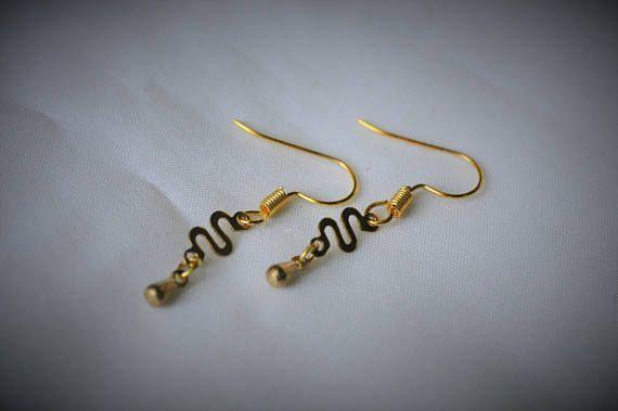 Gold Plated Earring BRASS Charm D3 Dangle Earring    5 mm