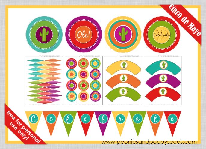 cinco de mayo free printables mexican partymexican - Mexican Party Decorations