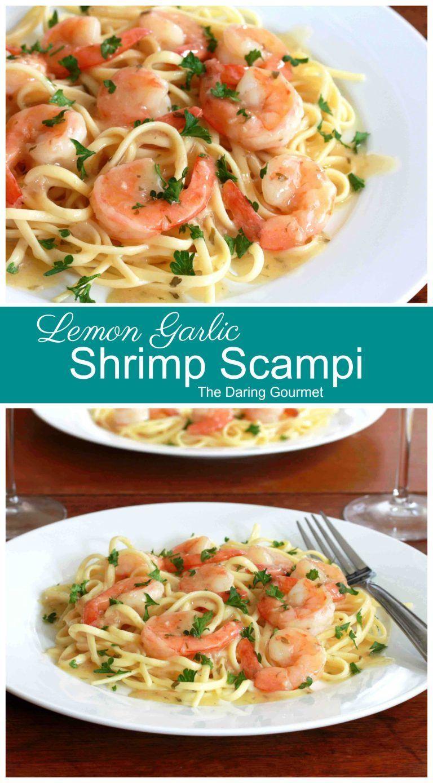 Lemon-garlic Shrimp Scampi Recipe - The Daring Gourmet