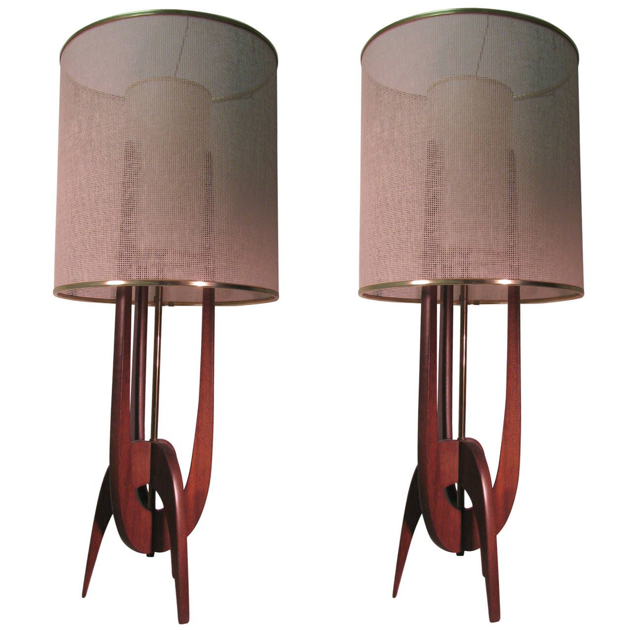 Pair of mid century modern adrian pearsall table lamps adrian pair of mid century modern adrian pearsall table lamps aloadofball Images