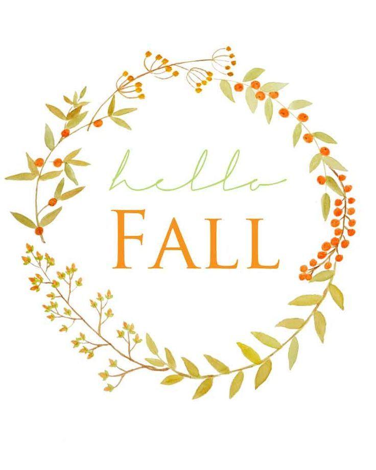 Free Fall Berry Watercolor Wreath Printable #hellofall