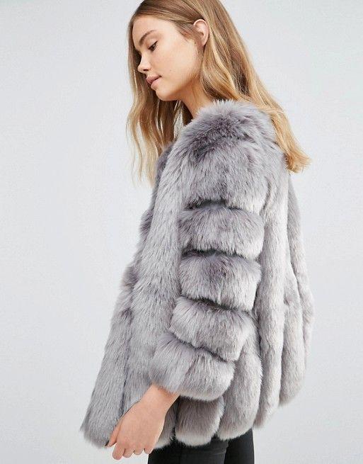 les manteau à fausse fourrure style ukrainien