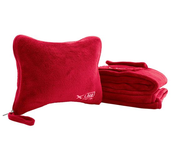 Nap Sac Travel Blanket + Pillow Set by #Lug; great for chilly airplane naps and train/road trip journeys