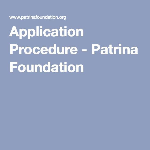 Application Procedure - Patrina Foundation