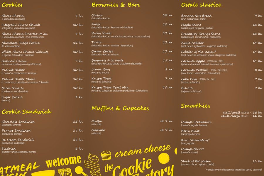 Cookie Factory Zagreb Google Pretrazivanje Cookie Factory Cookie Brownie Bars Food Branding