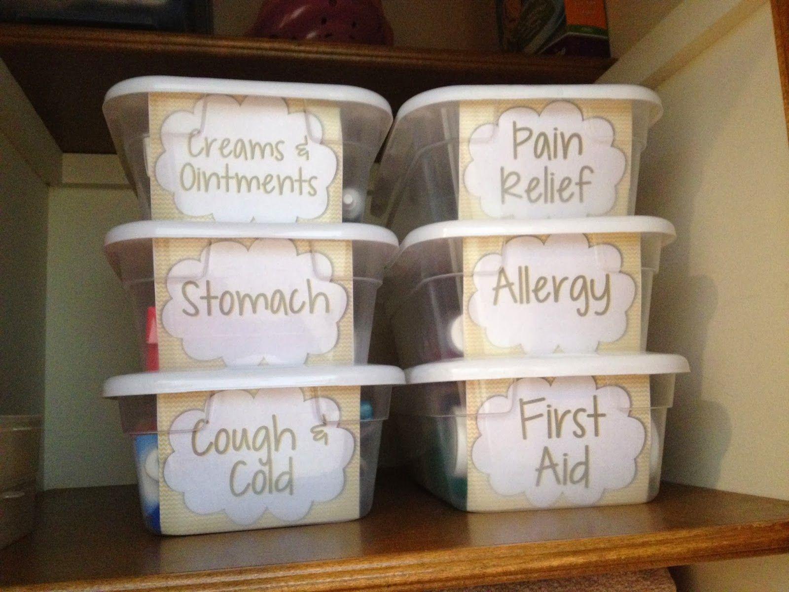 Medicine Organization Free Printable Labels Organizing