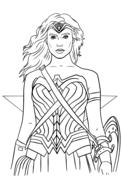 Wonder Woman Portrait Coloring Page Superhero Coloring Pages Superhero Coloring Coloring Pages