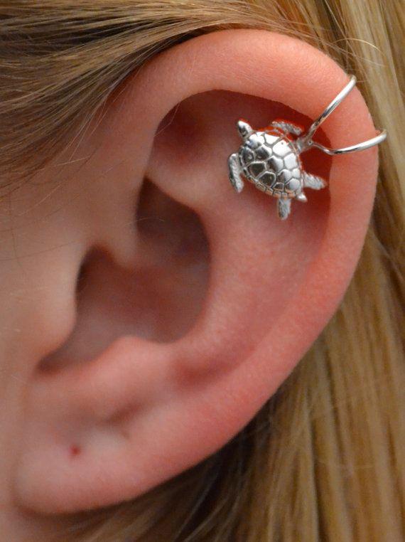 d6520143a Sea Turtle Cartilage Earring Cuff - Non Pierced - Helix Ear Cuff ...