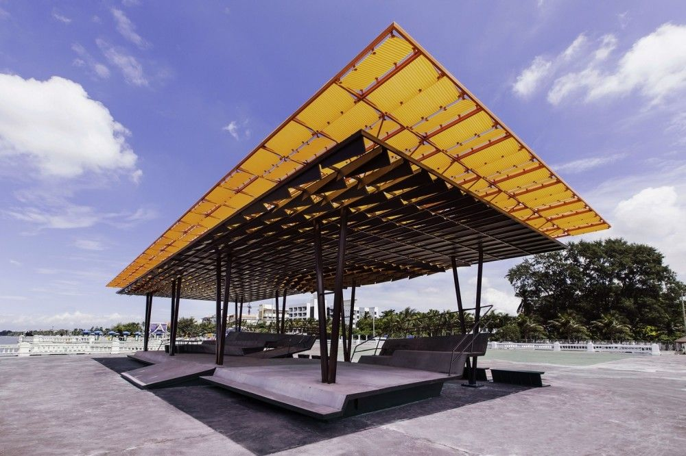 Gallery of 39 the flow 39 a multipurpose pavilion for Pavilion concept architecture