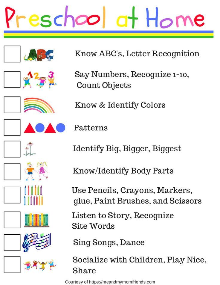 Photo of Preschool at Home – Free Printable Checklist – meandmymomfriends.com