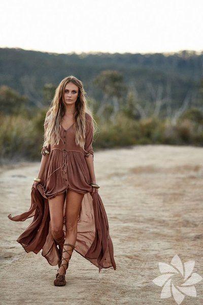 Bu Sezon Bohem Elbise Giymek Cok Moda Bohem Elbise Bohem Hippi Modasi