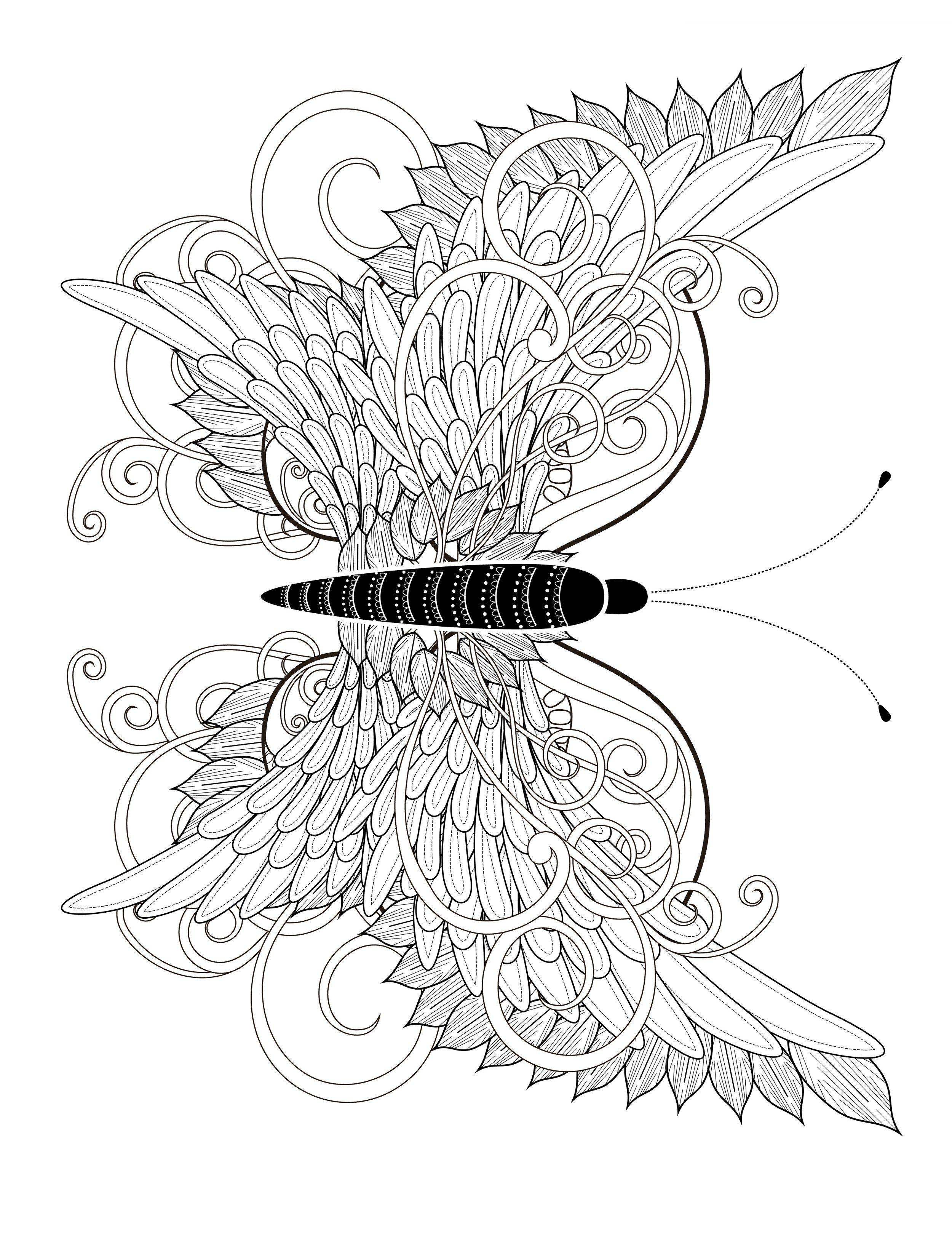 23 Free Printable Insect Animal Adult Coloring Pages With