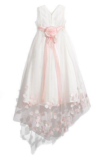 Joan Calabrese for Mon Cheri Tulle   Taffeta Floor Length Dress (Little  Girls   Big Girls)  f5897a00d995