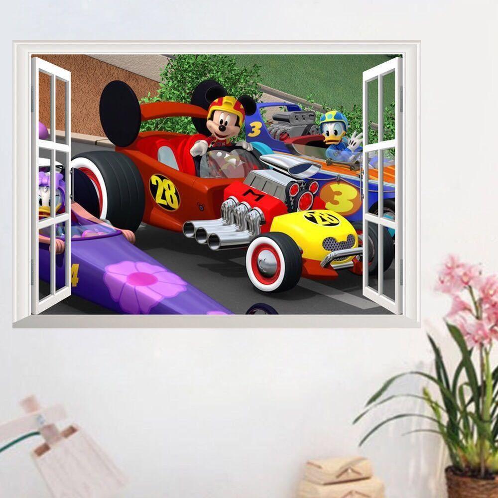 Disney Mickey Mouse Club House Window Wall Sticker Kids Room Murals Kids Wall Decals Kids Room Wall Stickers [ 1000 x 1000 Pixel ]