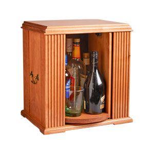 Tabletop Liquor Cabinet Woodworking Plan