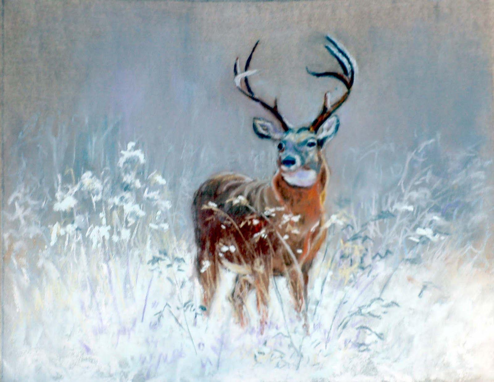 Deer Painting Animal Art And Wildlife