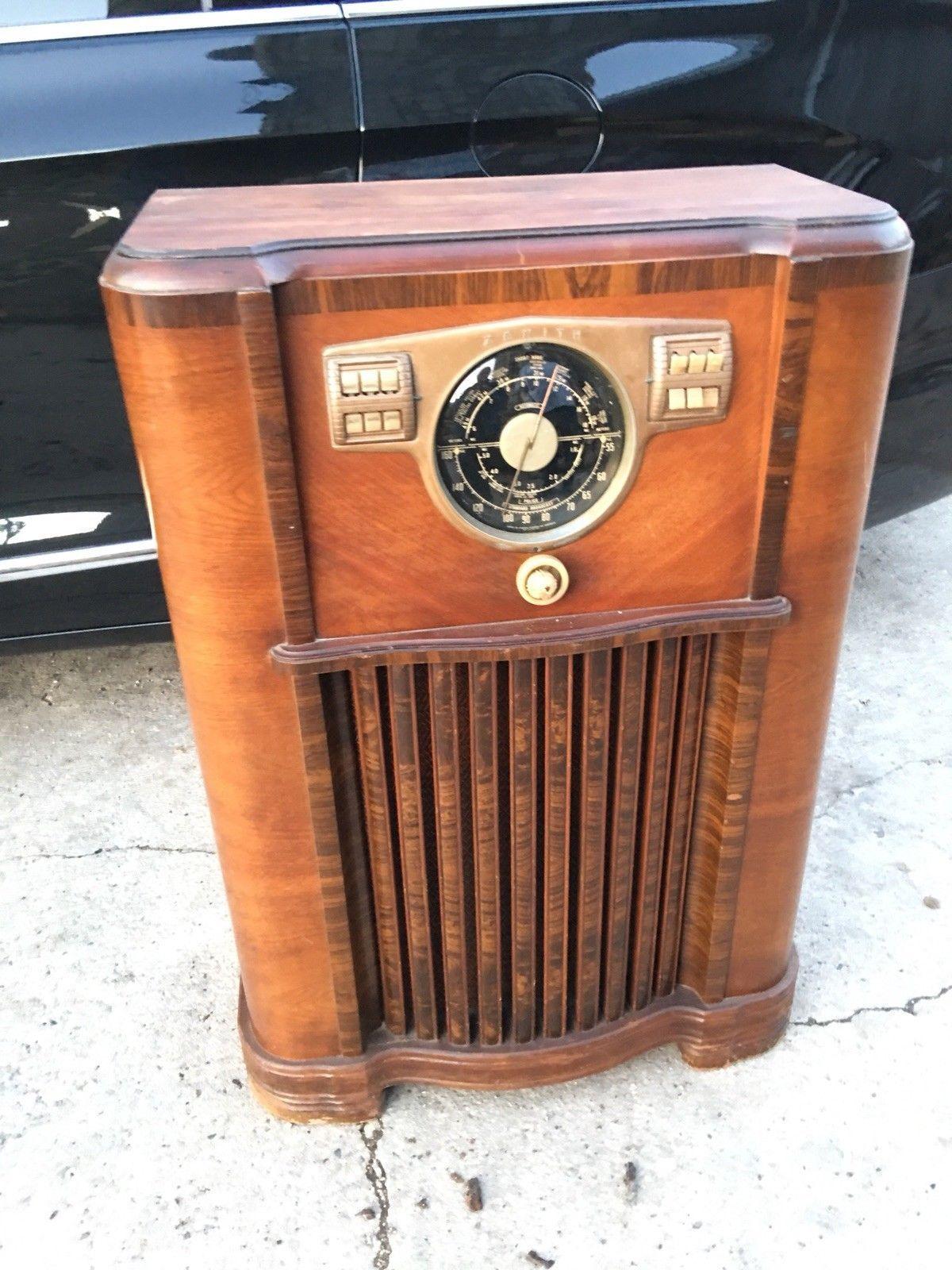 1936 Vintage Zenith 8 A 02 Am Shortwave Police Console Radio All Original Ebay Radio Vintage Zenith