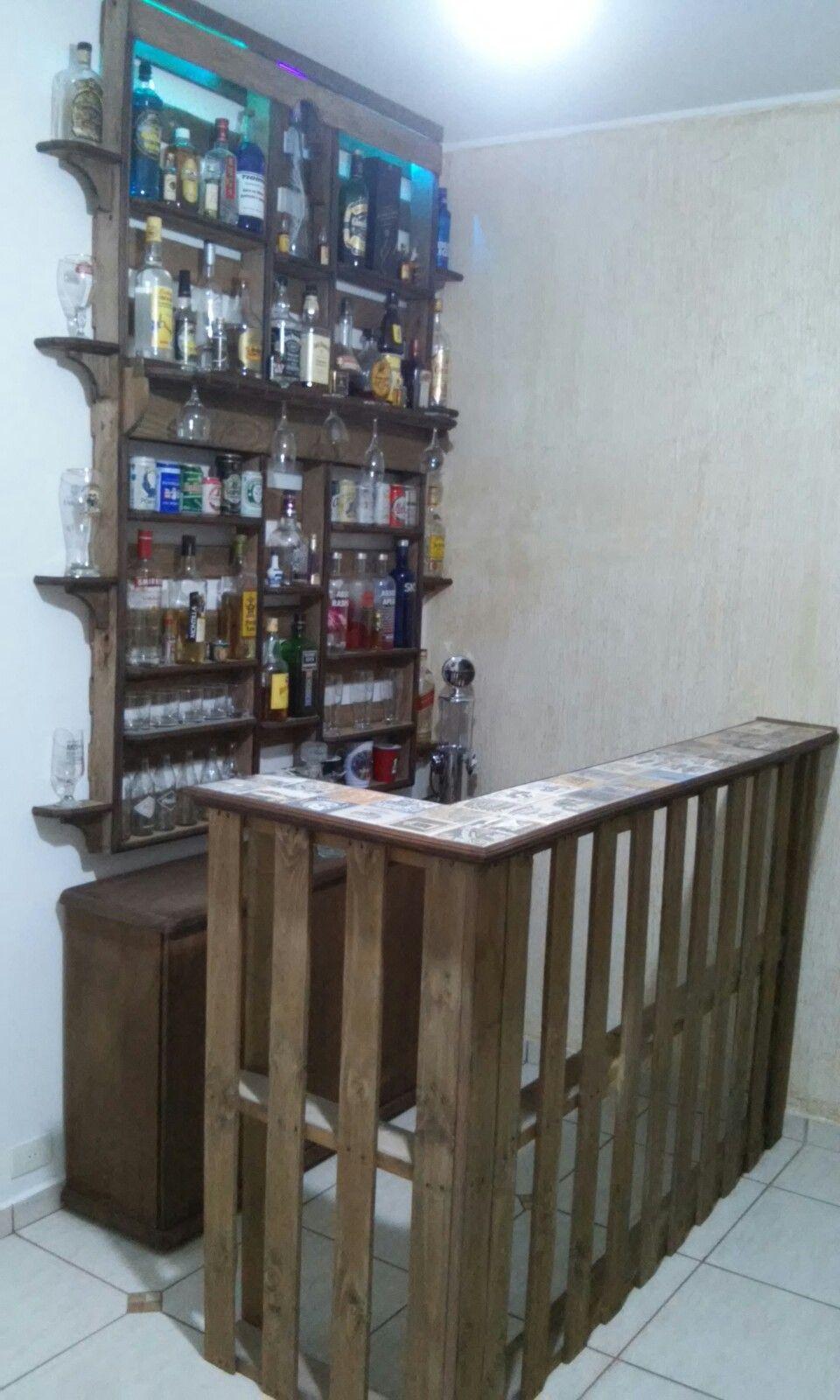 Bar feito de pallet. | bar | Pinterest