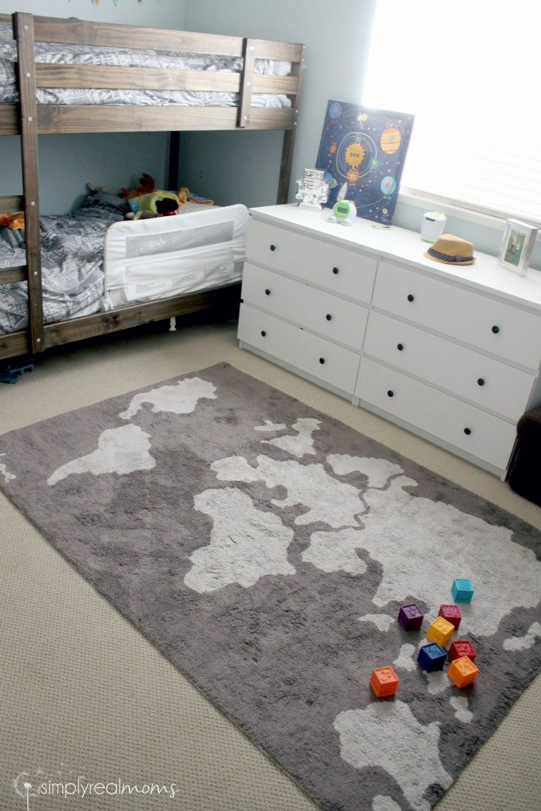Lorena Canals Machine Washable World Map Rug. Super Cute! | Home
