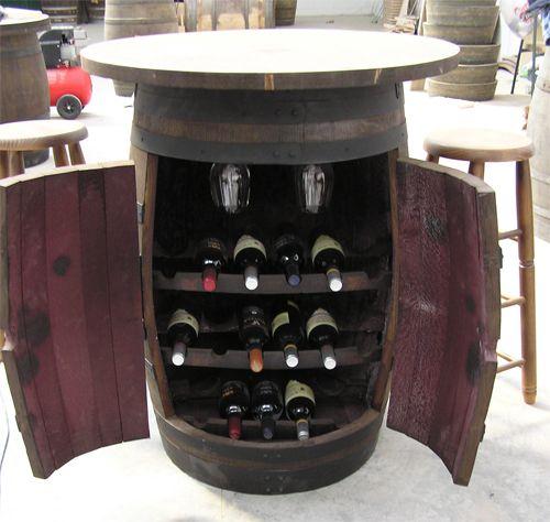 Botelleros de barricas reciclaje barriles de vino - Botellero de madera para vino ...