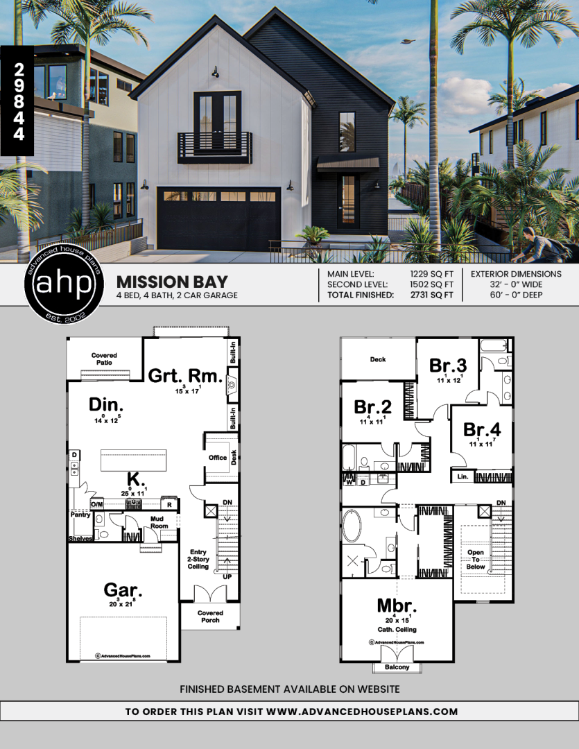 2 Story Modern Farmhouse Style Plan Mission Bay Sims House Plans Narrow House Plans Narrow Lot House Plans